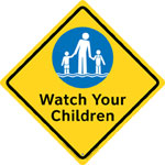 "Clarion® Pool Safety Sign - ""Watch Your Children"""