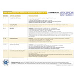 Laminated Lesson Plan for Swim 202
