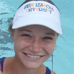 Swim Lessons University Instructor's Visor