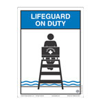 "Clarion® Pool Safety Sign - ""Life Guard on Duty"""