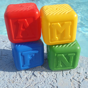 """Let's Build a Castle"" Building Blocks for Swim 101 Class, Set of 4"