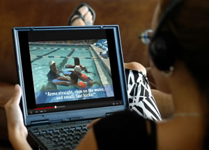 Video-based Swimming Instructor Training
